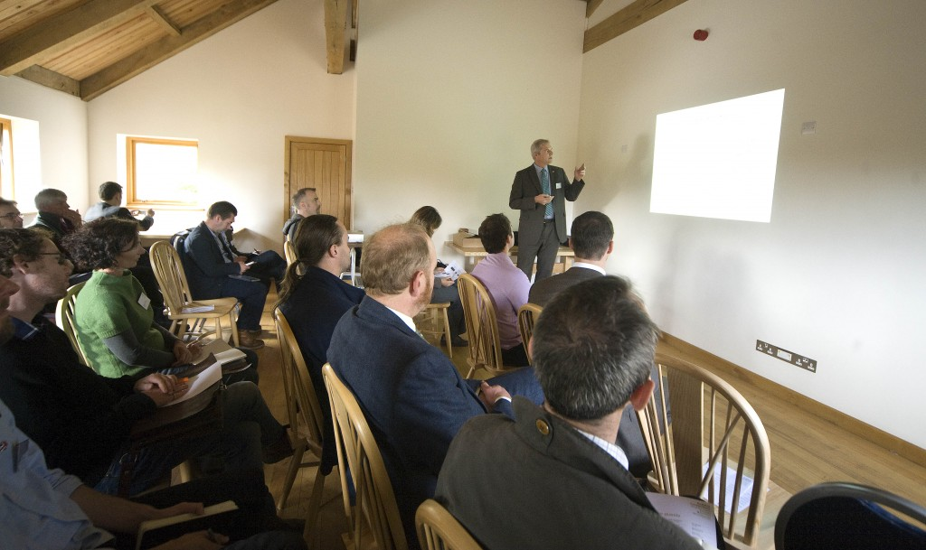 Ed Suttie of BRE presenting to a captive audience