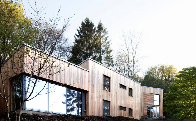 Vertical cedar cladding on Fir View in Dorset