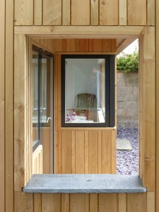 Vertical Siberian larch cladding