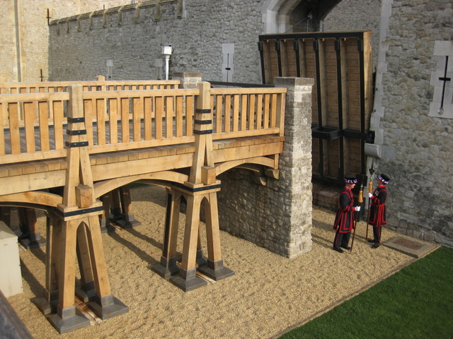 English oak used to construct the new drawbridge at the Tower of London