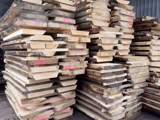 Sycamore boards cut at Vastern Timber